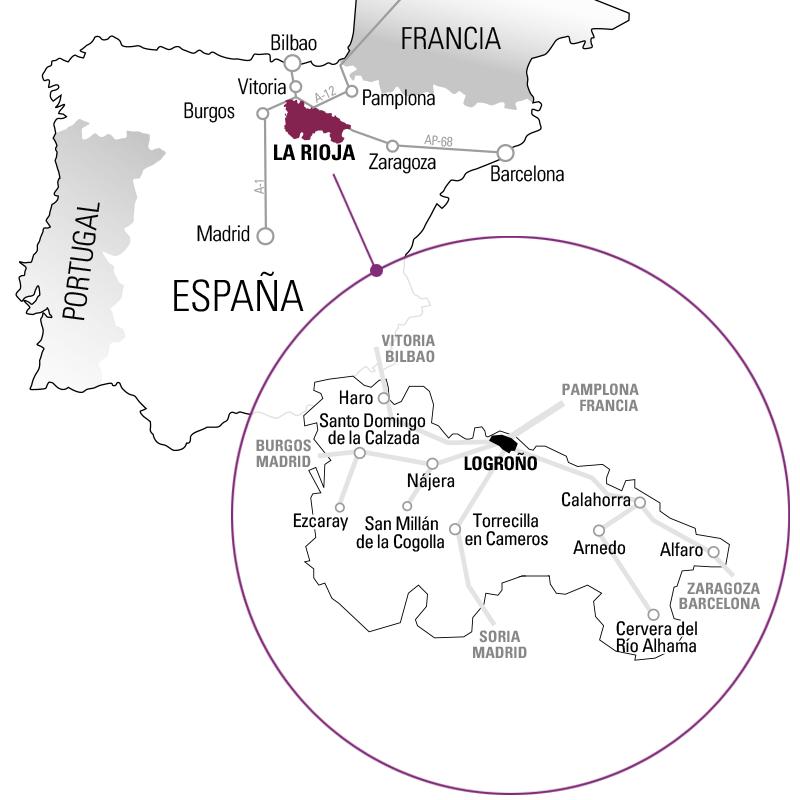Mapa Ruta del Vino Rioja Alta