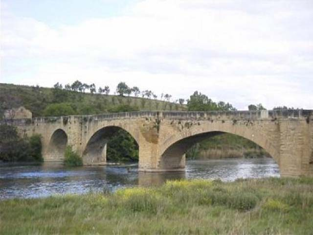 Medieval bridge over the river Ebro
