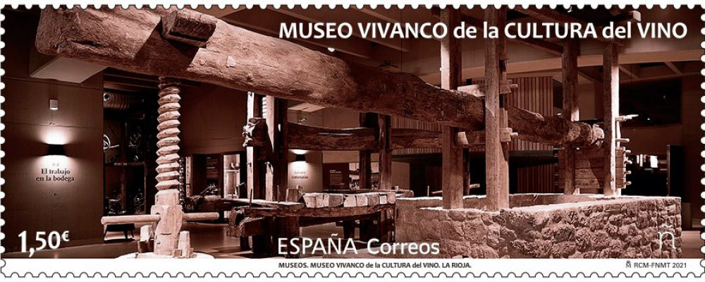 El Museo Vivanco de Briones protagonista de un nuevo sello de Correos