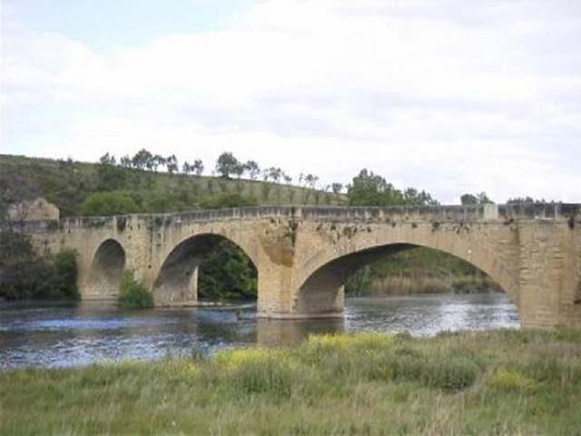 Medieval bridge over the river Ebro